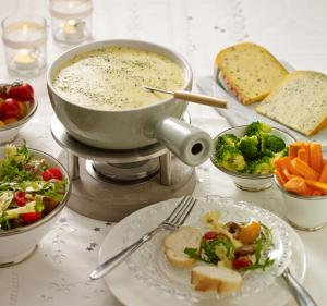 Kräuter-Käsefondue